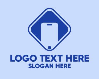 Mobile Phone - Blue Mobile Phone Telecom logo design