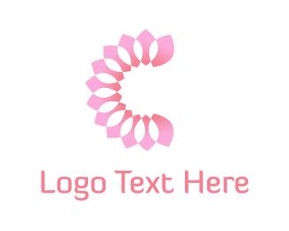 Petals - Pink Petals logo design