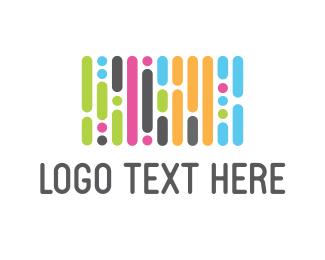 Dj - Colorful Beat logo design