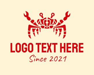 Chilli Crab - Red Crab Seafood logo design