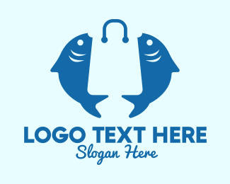 Market - Fish Market Bag  logo design