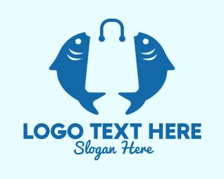 Market - Fish Market Bag logo design