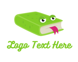 Tongue - Frog Books logo design