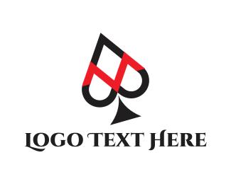 Poker - Spade Letter M logo design