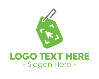 Online Shop - Green Shop Tag logo design