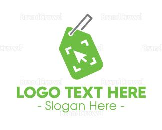 Shop - Green Shop Tag logo design