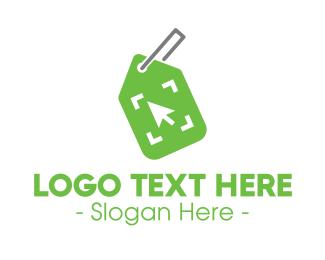 Auction - Green Online Shop Tag logo design