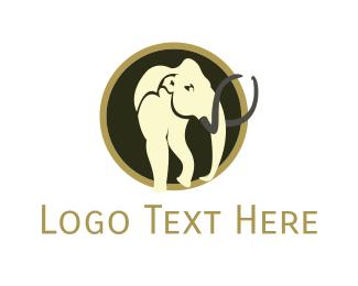 Tusk - Mammoth Circle logo design