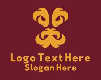 Legend - Minimalist Dragon Face logo design