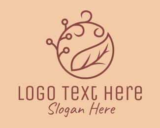 Organic Product - Brown Organic Leaf  logo design