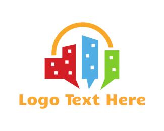 Skyscraper - City Talk logo design