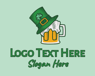 Saint Patrick - St. Patrick's Day Beer logo design