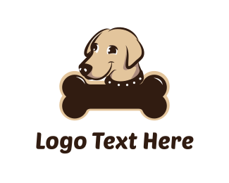 Bone - Cute Dog logo design
