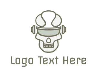 Sci Fi - Cyborg Skull Eyewear logo design
