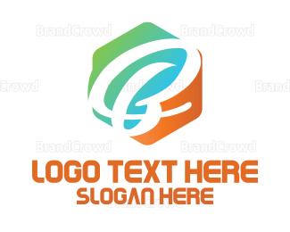 Letter B - Hexagon  Letter B logo design