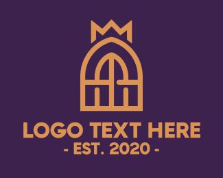 Rome - Golden Royal Window  logo design