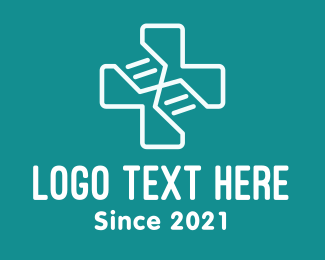 Doctor - Medical DNA Cross logo design