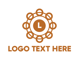 Golden - Golden Circle Lettermark logo design