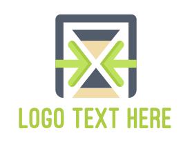 Management - Tech Time Hourglass logo design