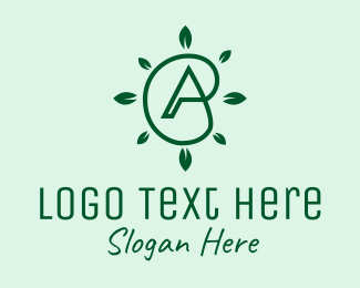 Products - Eco Natural Letter A  logo design