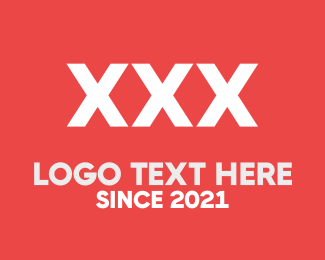 Xxx - XXX White & Red logo design