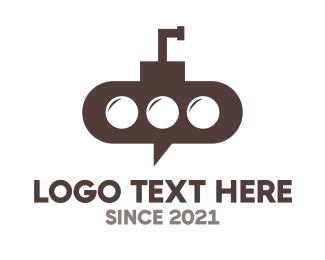 Submarine - Submarine Chat logo design