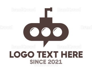 Chat - Submarine Chat logo design