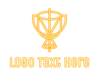 Goblet - Yellow  Chalice logo design