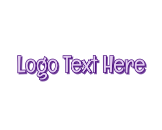 """Comic Purple Wordmark"" by BrandCrowd"