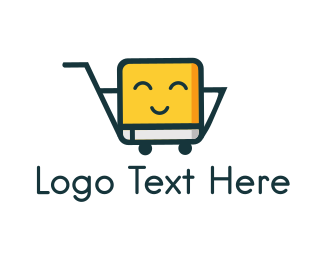 Trolley - Cute Yellow Trolley logo design