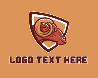 Shield - Ram Sports Mascot  logo design