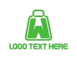 Shopping Bag - Bag Letter W logo design