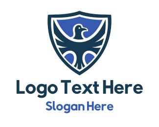 Hawk - Hawk Blue Shield logo design