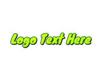 Lollies - Neon Green Handwriting logo design