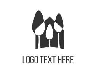 Retreat - Black Forest logo design