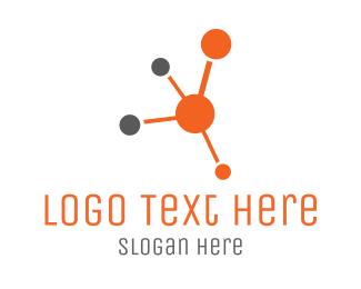 Pharmaceutical - Orange Molecule logo design
