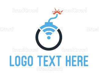 Vpn - Boom Wifi logo design
