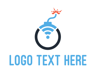 Sprint - Boom Wifi logo design