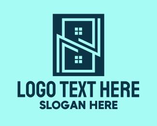 Property - Blue Building Property logo design