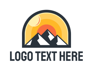 Trip - Sunrise Mountain  logo design
