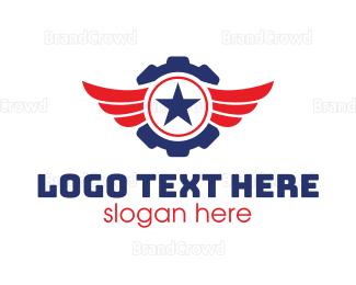 Citizen - Gear Wing Star logo design