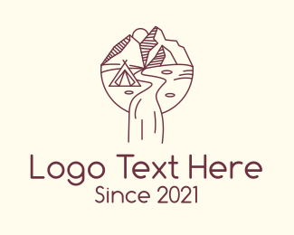 Tourist Destination - Outdoor Camping logo design