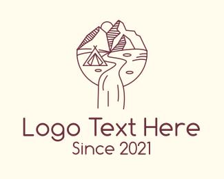 Camp - Outdoor Camping logo design