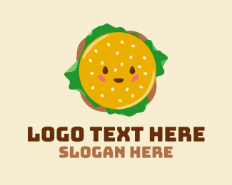 Delicious - Happy Delicious Burger  logo design