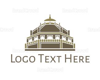 India - Ancient Temple  logo design