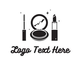 Lipstick - Black Cosmetics logo design