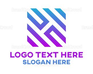 Generic - Stripe Box H logo design