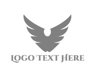 White And Gray - Falcon Wings logo design