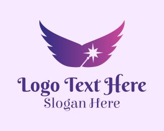 Purple Wand Wings Logo