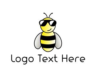 Summer - Cool Bee logo design